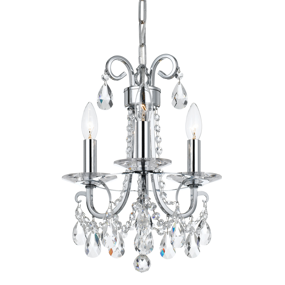 Crystorama othello 3 light clear crystal polished chrome mini crystorama othello 3 light clear crystal polished chrome mini chandelier aloadofball Images