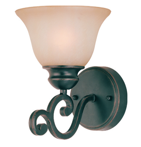 Farmington 1 Light Wall Sconce in Raven's Wash