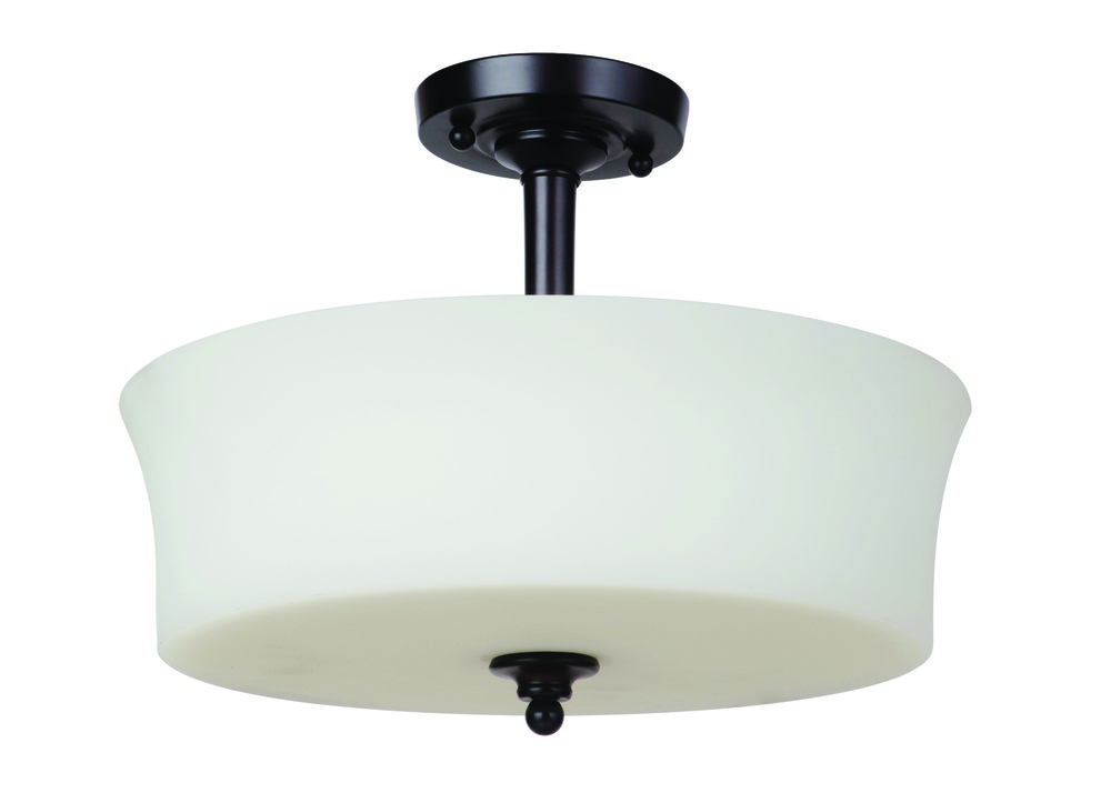 Helena 3 Light Semi Flush in Oiled Bronze