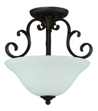 Jeremiah 24263-MB-WG - Barrett Place 3 Light Semi Flush in Mocha Bronze