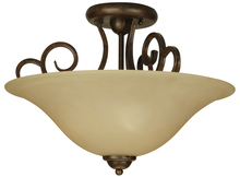 Jeremiah 7118PR3SF - Cecilia 3 Light Semi Flush in Peruvian Bronze