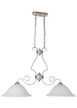 Jeremiah 7136BN2-WG - Cecilia 2 Light Island in Brushed Satin Nickel