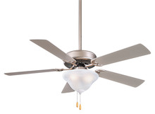 "Minka-Aire F548-BS - 52"" Three Light Brushed Steel/silver Ceiling Fan"