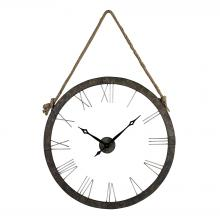 Sterling Industries 26-8643 - Leona Metal Rope Hung Wall Clock