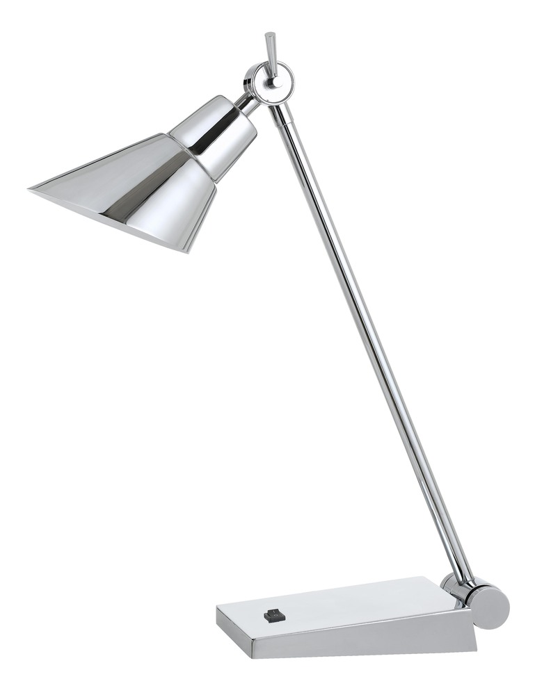 "20"" Height Metal Desk Lamp In Chrome"