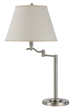 "CAL Lighting BO-2350TB-BS - 28.5"" Height Metal Table Lamp In Brushed Steel"
