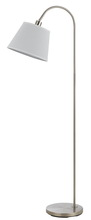 "CAL Lighting BO-2573FL-BS - 60"" Height Metal Floor Lamp In Brushed Steel"