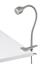 "CAL Lighting BO-2603CL-BS - 11"" Height Metal Clamp On In Brushed Steel"