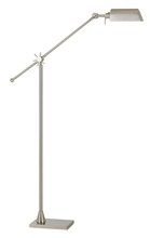 "CAL Lighting BO-2694FL-BS - 62"" Height Metal Floor Lamp In Brushed Steel"