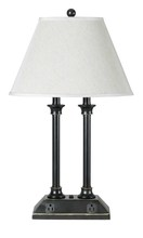 "CAL Lighting LA-60007DK-1R - 27"" Tall Metal Desk Lamp In Dark Bronze Finish"