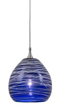 "CAL Lighting UP-1069/6-BS - 4.7"" Tall Glass And Metal Pendant With Brushed Steel"