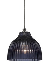 "CAL Lighting UP-1070/6-BS - 7"" Tall Glass Pendant With Brushed Steel Finish"