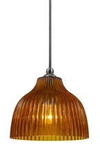 "CAL Lighting UP-1071/6-BS - 7"" Tall Glass Pendant With Brushed Steel Finish"