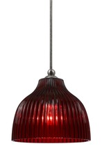 "CAL Lighting UP-1072/6-BS - 7"" Tall Glass Pendant With Brushed Steel Finish"