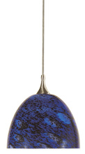 "CAL Lighting UP-959/6-BS - 3.8"" Tall Glass And Metal Pendant With Brushed Steel Cord"
