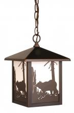 "Vaxcel International OD35086BBZ - Bozeman 8"" Outdoor Pendant"