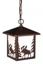 "Vaxcel International OD36986BBZ - Yellowstone 8"" Outdoor Pendant"