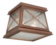 "Vaxcel International T0065 - Mackinac 9"" Outdoor Flush Mount"