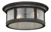 "Vaxcel International T0155 - Hanover 12"" Flush Mount"