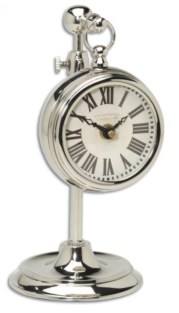Uttermost Pocket Watch Nickel Marchant Cream