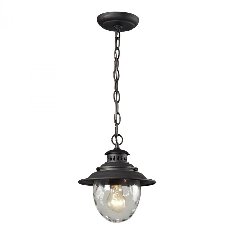 Searsport 1 lt Outdoor Pendant In Weathered Charcoal