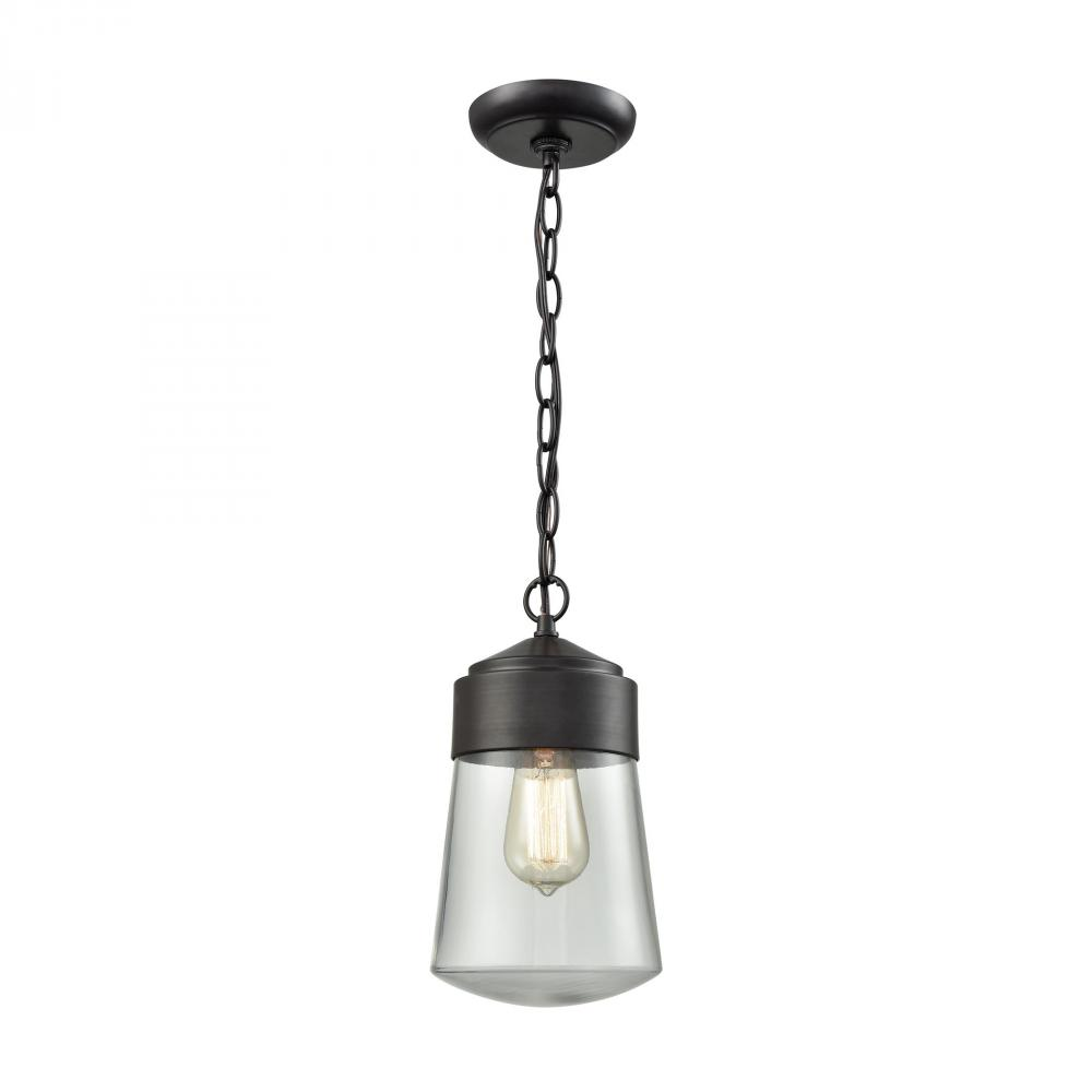 Mullen Gate 1 Light Outdoor Pendant In Oil Rubbe