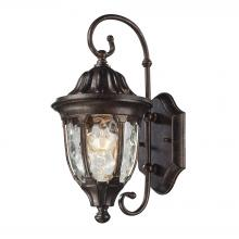 ELK Lighting 45002/1 - Glendale 1 Light Outdoor Wall Sconce In Regal Br