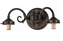 Meyda Tiffany 144566 - 2 S-ARM SCONCE/PLAIN FITTERS/ROT SWITCH